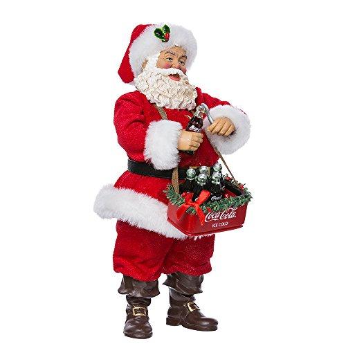 "Kurt Adler 10"" Santa Opening Coke Tablepiece"
