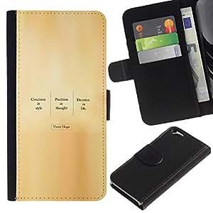 LECELL--Cuero de la tarjeta la carpeta del tirón Smartphone Slots Protección Holder For Apple Iphone 6 -- VICTOR HUGO CITA --