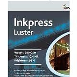 Inkpress Luster Premium Single Sided Bright Resin Coated Photograde Inkjet Paper, 10.4mil., 240gsm., 8.5x11'', 250 Sheets