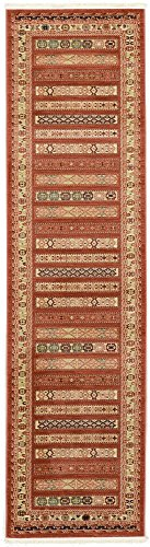 Unique Loom Nomad Collection Rust Red 3 x 10 Runner Area Rug (2' 7