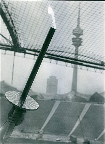 Vintage photo of Torch for the Olympic course from Olympia (Greece) to ()
