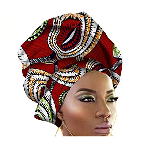 African Traditional Wax Print Head wrap Headwrap Scarf Tie, Multi-Color Urban Ladies Hair Accessory Headband Head Scarf - Scarf Tie Ladies