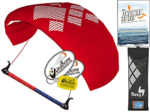HQ4 Fluxx 1.3M Trainer Kite TR plus Kiteboarding DVD Bundle (4 items) Includes 'The Way To Fly' Beginner Kitesurfing Instructional + WindBone Kite Lifestyle Decals + Key Chain : Power Traction Train