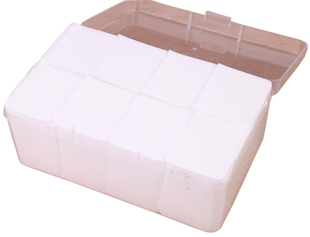 1Box White 1080Pcs Disposable Makeup Face Remover Cotton Puff Eye Lip Nail Arts Facial Cleaner Pads Pieces Clean Carton Packaging Sheet YC001458T-1080PCS-1Box