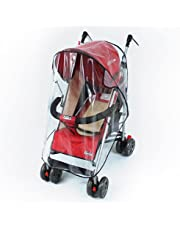 Chinatera Waterproof Rain Cover Wind Shield Fit Most Strollers Pushchairs Buggys