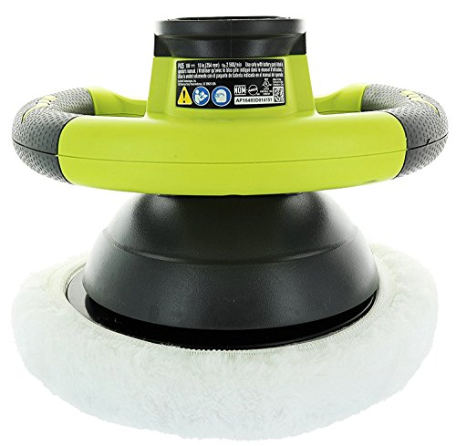 Ryobi P435 One 18V Lithium Ion 10 2500 RPM Cordless Orbital Buffer Polisher with 2 Bonnets Battery Not Included, Power Tool Only