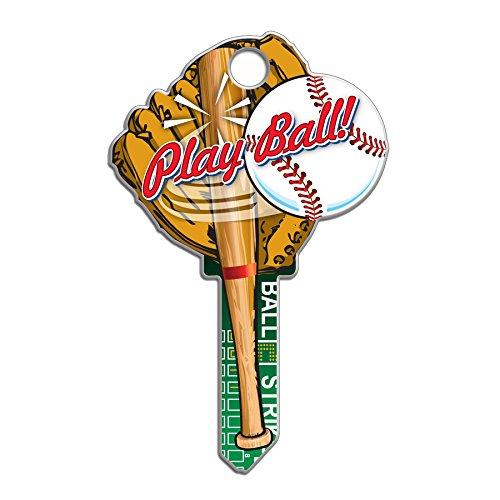 (Lucky Line Key Shapes, Baseball, House Key Blank, SC1, 1 Key (B120S))