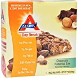 ATKINS DAY BREAK BAR,CHOC HZLNUT, 5/1.4 OZ