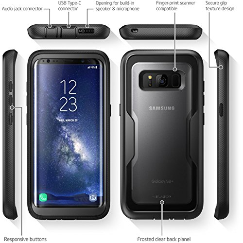 i-Blason Galaxy S8 Plus Case, [Armorbox] [Full body] [Heavy Duty Protection ] Shock Reduction / Bumper Case WITHOUT Screen Protector for Samsung Galaxy S8 Plus 2017 Release