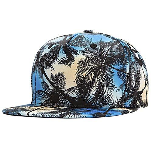 ChezAbbey 3D Printed Solid Brim Hip Hop Adjustable Hat Snapback Baseball Cap by ChezAbbey