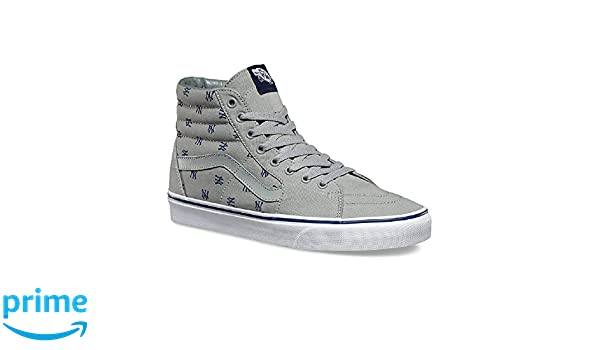 Amazon.com | Vans Unisex Sk8-Hi MLB Skate Shoes-New York Yankees/Gry-9.5-Women/8-Men | Skateboarding