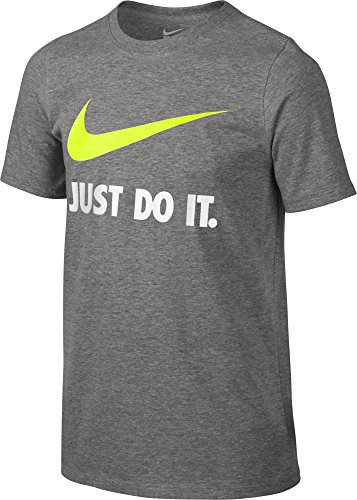 Nike Kids JDI Swoosh Tee Little Kids/Big Kids Dark Grey Heather Boy's T Shirt