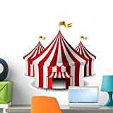 Wallmonkeys Circus Tent Wall Decal Peel and Stick Graphic (24 in H x 24 in W) WM108155