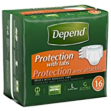 Depend Fitted Briefs Max Absorbency Large- 16 Count