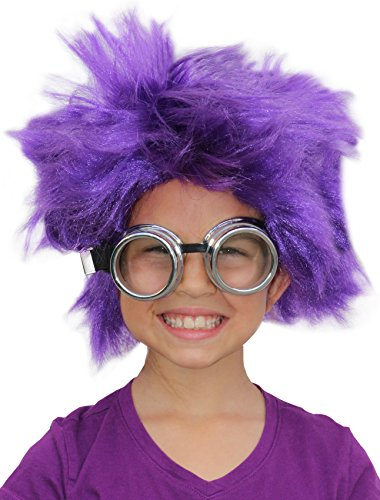 Afro Wig Purple Minion Costume Purple Minion Wig Minion Goggles Minion Costume - A Purple Minion Costume