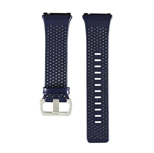aWinnerレザーバンドfor Fitbit Ionic、本革交換バンドアクセサリーストラップfor Fitbit Ionic Smart Fitness Watchレディースメンズ Large(6.29''-8.66'') AW-PI-BAND-6 Large(6.29''-8.66'')|ブルー ブルー Large(6.29''-8.66'') B0795CTRCP