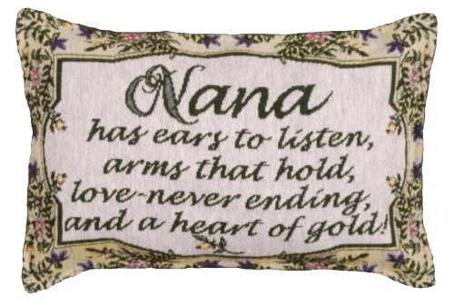 Nana Heart of Gold Decorative Tapestry Toss Pillow Made in the USA SKU P80-963