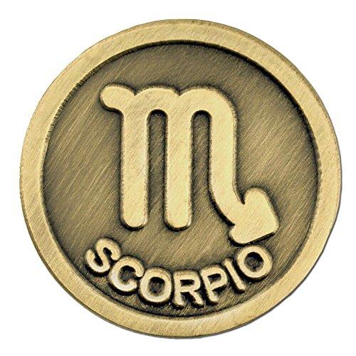 Scorpion Symbol - PinMart Antique Gold Scorpio Zodiac Scorpion Symbol Lapel Pin