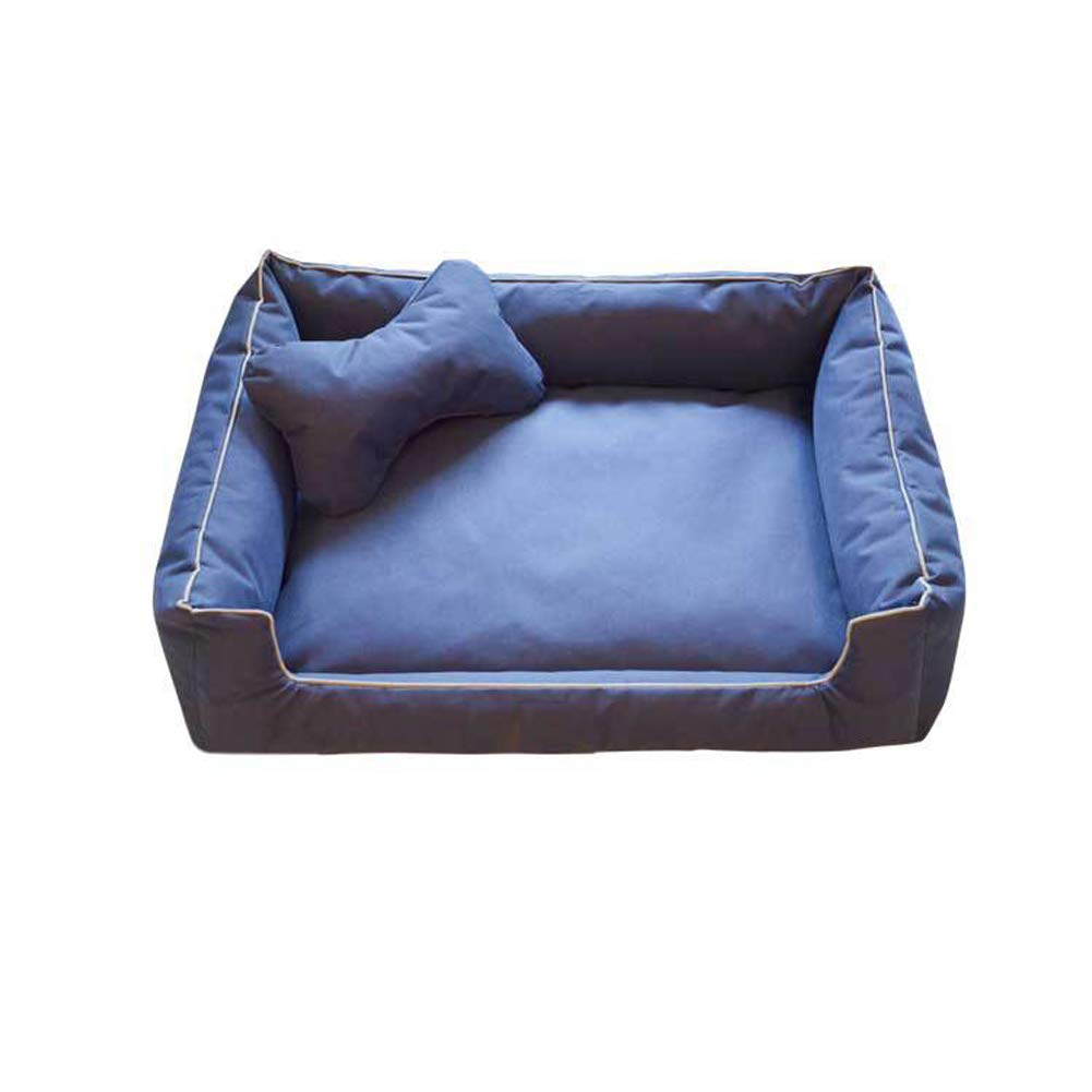 Darkbluee Small Darkbluee Small Pet Nest Removable and Washable Four Seasons Kennel Large Dog Bed Small Dog Teddy Kennel Waterproof Kennel,Darkbluee,S