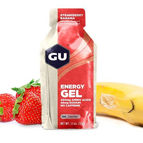 GU Original Sports Nutrition Energy Gel, Strawberry Banana, 24-Count