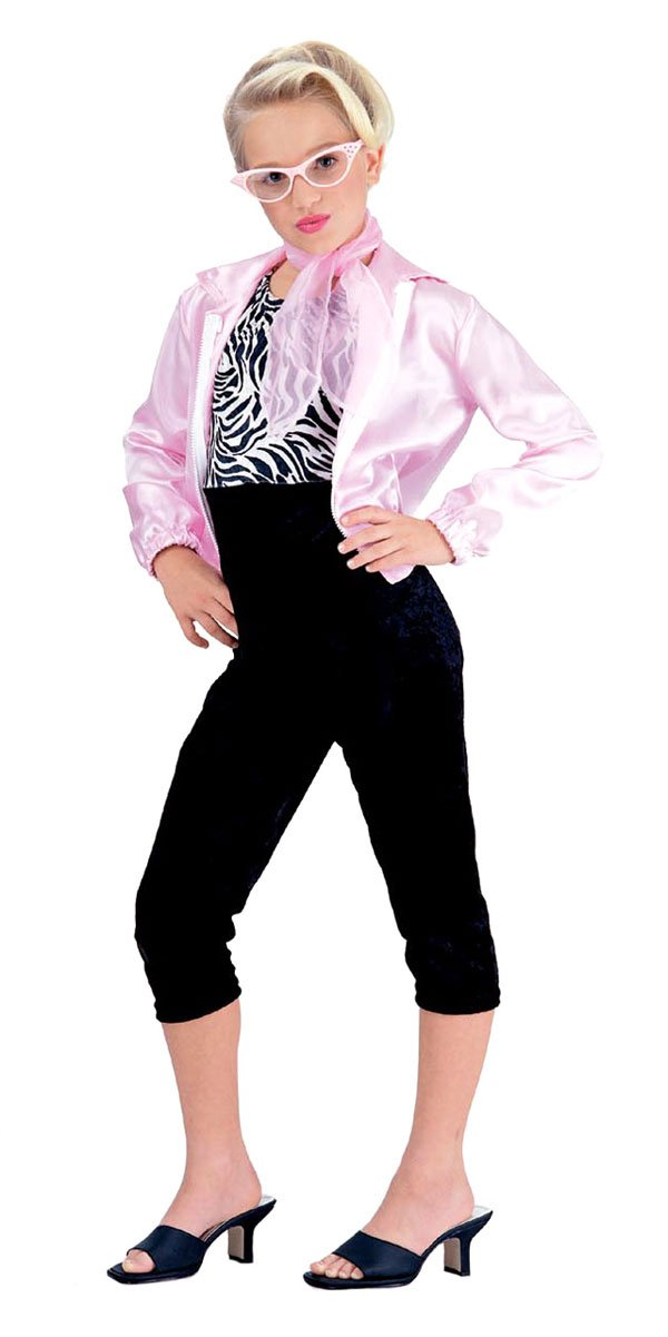Amazon.com: Girls 50\'s Pink Lady Costume - Child Small: Toys & Games