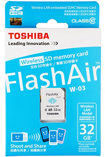 32GB Toshiba FlashAir W-03 Wi-Fi Wireless LAN SD Card SDHC CL10
