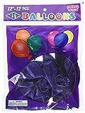 Homeford Premium Latex Balloons Plain Color, 12-Inch, Purple, 12-Pack