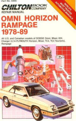 Omni Owners Manual (Omni/Horizon Rampage, 1978-89 (Chilton's Repair Manual))