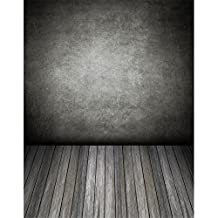 Photographic Background Black Wall Grey Wood Floor Backdrops Seamless 5x7ft Backgrounds for Photo Studio