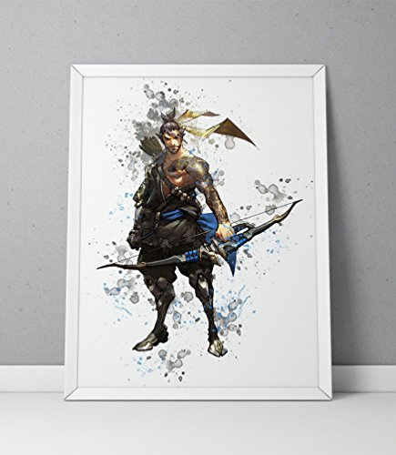 Overwatch print, Hanzo print, Overwatch poster, Hanzo poster, game poster, Blizzard N.005