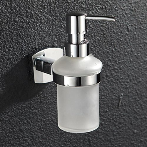 - Soap Dispenser Liquid Hand Soap Dispenser Hotel Family Villa Dedicated Soap Shower Gel Container Copper Base Glass Bottle