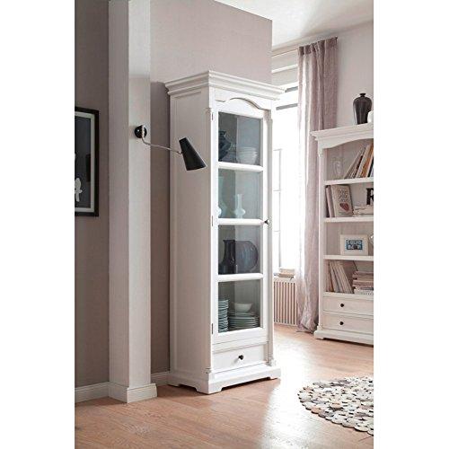 NovaSolo Provence Glass Cabinet, White by NovaSolo