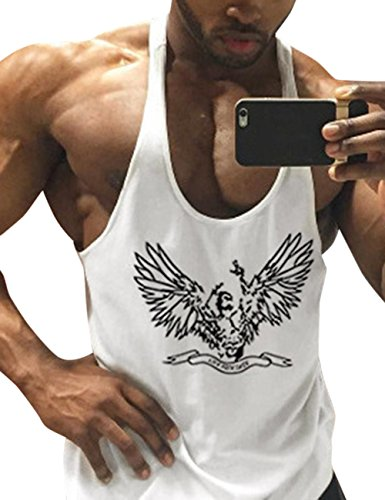 Men's Personality Wing Printing Loose Cotton Sports I-shaped - Nwa Mall