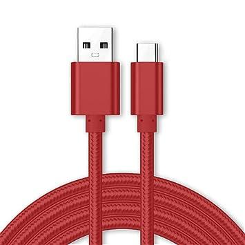 Kit Me Out® [3M 3 Metro [3.1A Cargador Rápida] Cable De Carga Rápida USB C para Sony Xperia L3, Tipo C Sincronización Cable Trenzado Nilón Nylon [USB ...