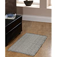 Chesapeake Merchandising Portland Chevron 2 Piece Accent Rug Set, 21 x 34, Grey