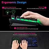 RGB Compact Gaming Keyboard, CHONCHOW USB Wired 87
