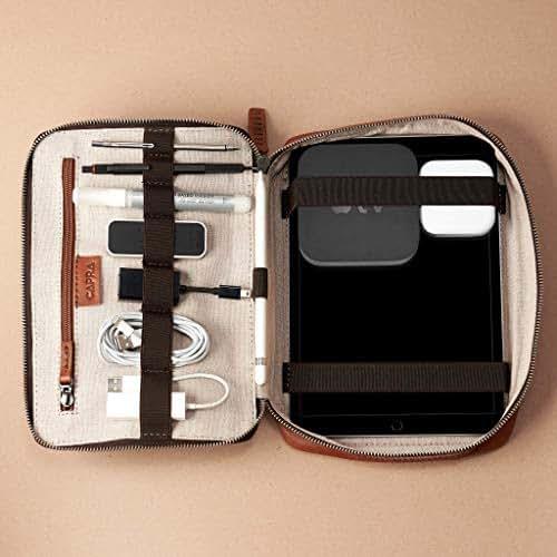 Amazon Com Capra Leather Travel Tech Organizer For Men