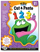 Cut & Paste 123s Workbook, Grades Preschool - K (Big Skills for Little Hands®)