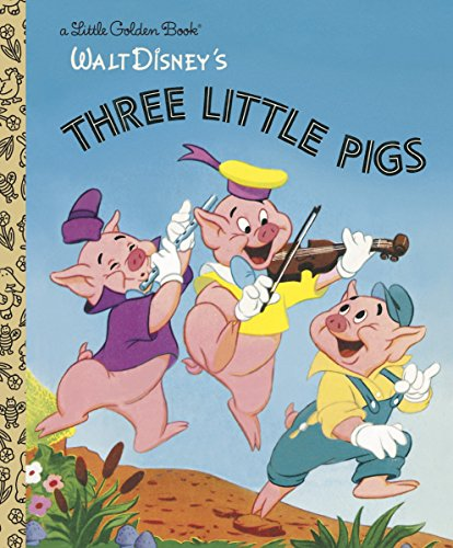 The Three Little Pigs (Disney Classic) (Little Golden Book) (Full Story Of The Three Little Pigs)