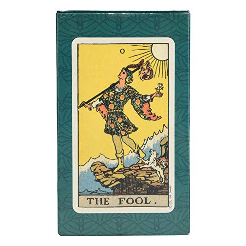78pcs Rider Waite Tarot Future Telling Game Card Set with Guide Book Colorful Box for Vintage Witch Board Game(Green)