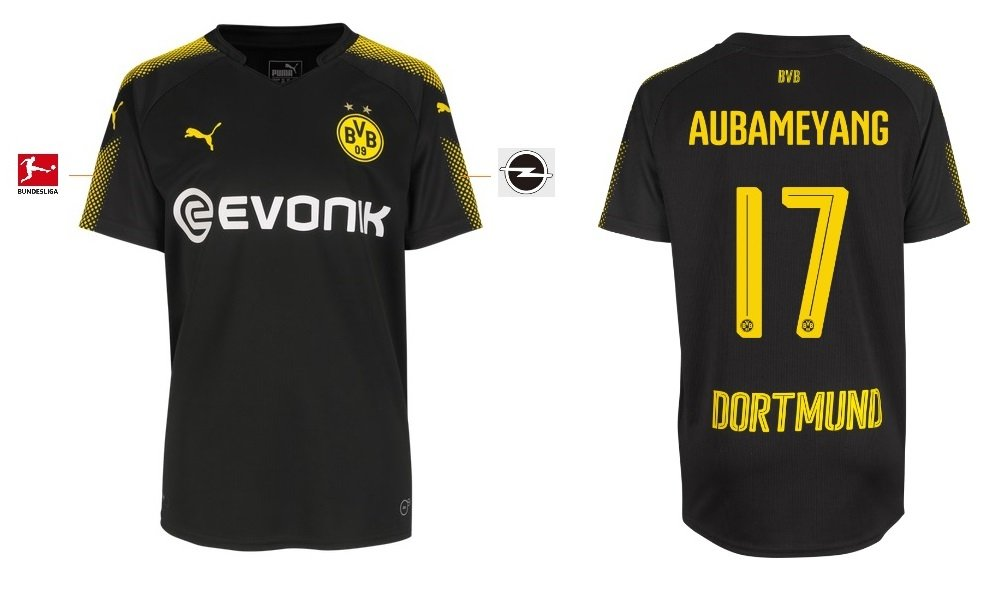 BVB_Dortmund Trikot Kinder 2017-2018 Away - Aubameyang 17