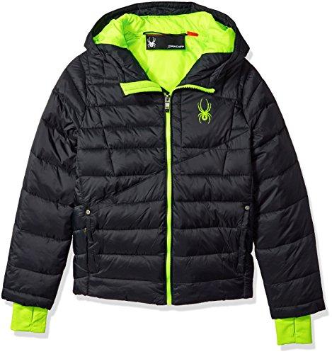 (Spyder Boys' Big Upside Down Jacket, Multi, L)