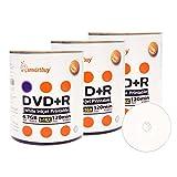 Smart Buy 300 Pack DVD+R 4.7gb 16x White Printable Inkjet Blank Media Record Disc, 300 Disc 300pk