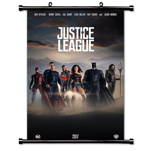 Justice League 2017 Movie Fabric Wall Scroll Poster (32x53) Inches (Justice League Fabric Poster)