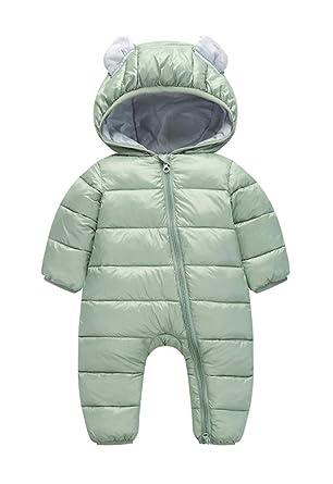 d2c9dad75 Amazon.com  6-30M Baby Toddler s Down Cotton Romper Snowsuit Warm ...