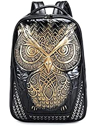 YOURNELO Women Cute Owl Print Backpack Casual College Bags Daypacks Boys Girls