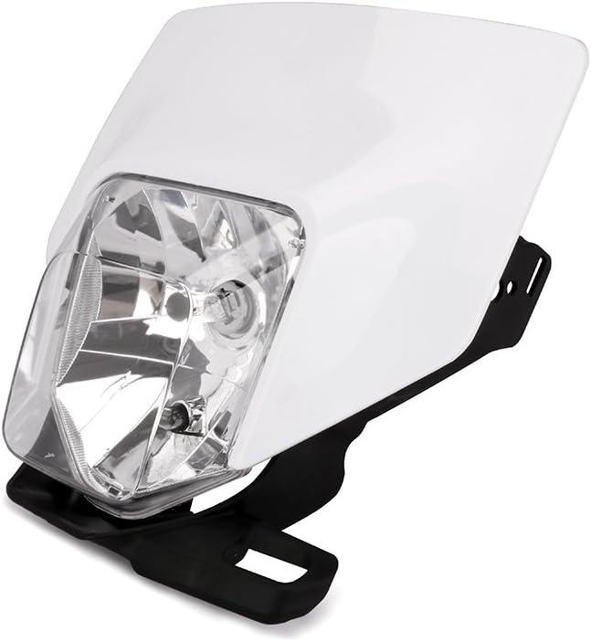 JFG RACING Phare LED Universel pour Moto Phare Dual Lights avec LED Angle de Pliage pour KTM Duke Dirt Bike Super Motard