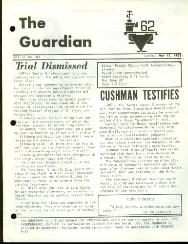 USS Independence CV-62 GUARDIAN Newspaper 5/13 1973 Pentagon Papers Trial from The Jumping Frog