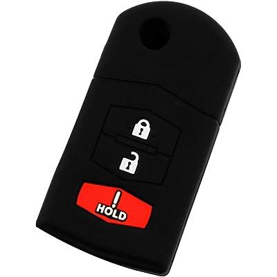 KeyGuardz Keyless Remote Car Flip Key Fob Outer Shell Cover Soft Rubber Case for Mazda CX-5 CX-7 CX-9 MX-5 MPV RX-8: Automotive