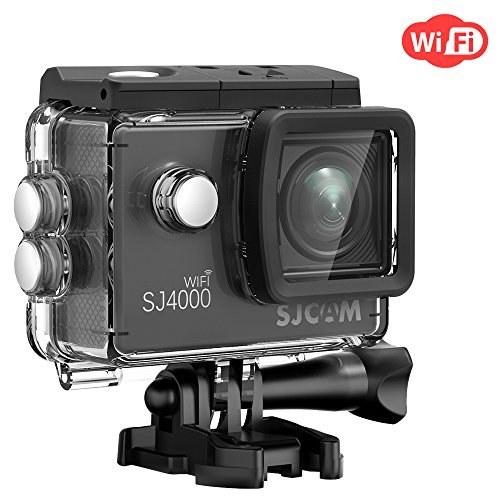 Action Camera SJCAM SJ4000 WIFI FHD1080P waterproof Underwater Camera 12MP Sports Camcorder 2.0 LCD Screen Display -Black by SJCAM